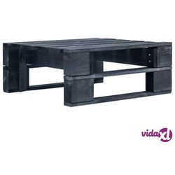 Vidaxl stołek ogrodowy wykonany z palet, drewno fsc, czarny (8719883692852)