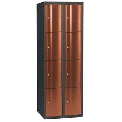 Ekskluzywne szafy osobiste 2x4 schowkim Kolor drzwi: Miedziany metalizowany, kup u jednego z partnerów