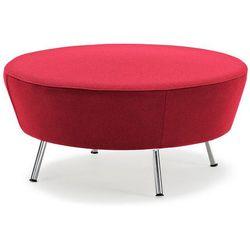 Sofa modułowa okrągła czerwona