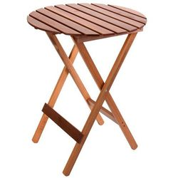 Okrągły stolik ogrodowy z drewna
