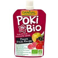 Przecier POKI jabłkowy z dodatkiem czerwonych owoców i czarnej porzeczki bez cukru BIO 90g - Danival
