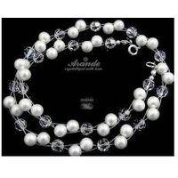Naszyjnik swarovski ślubny crystal pearl srebro marki Arande