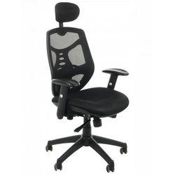 Fotel biurowy gabinetowy KB-8905/CZARNY - krzesło obrotowe