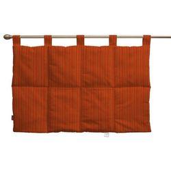 wezgłowie na szelkach, pomarańczowa prążkowana tkanina, 90 x 67 cm, wyprzedaż do -30% marki Dekoria