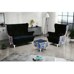 """Sofa.pl Zestaw """"riki"""" sofa + fotel+podnóżek - oliwkowy"""