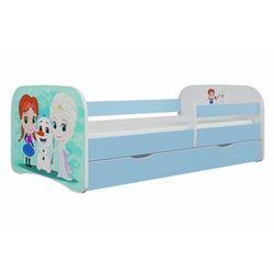 Łóżko dla dziecka, barierka, babydreams, kraina lodu, niebieskie