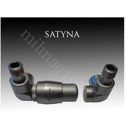 Zestaw zaworów grzejnikowych termostatycznych LUX lewy SATYNA (zawór i głowica ogrzewania)
