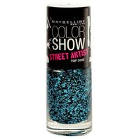 Maybelline Color Show Street Artist Top Coat 7ml W Lakier do paznokci 01 Boom Box Black
