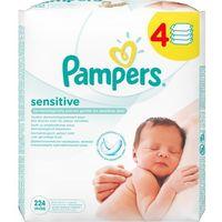 Chusteczki nawilżane  sensitive (4 x 56 sztuk) marki Pampers