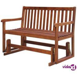 Vidaxl ławka ogrodowa/huśtawka, 125 cm, lite drewno akacjowe