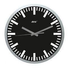 Zegar ścienny srebrny index, ATE2013X1