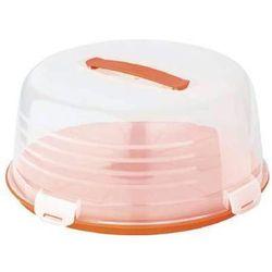 Pojemnik na ciasto okrągły pomarańczowy