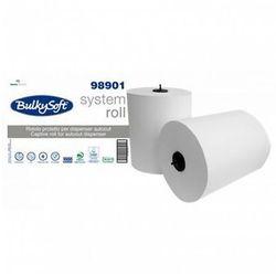 Ręcznik papierowy w roli Bulkysoft Autocut 3 warstwy 100 m biały celuloza, 98901