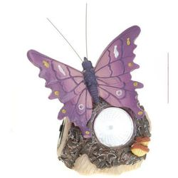 Lampa solarna motyl fioletowy figurka kamienna - wzór ii, marki Progarden