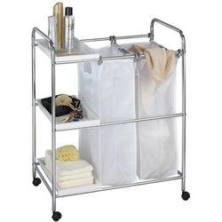 Kosz na pranie, 2 komorowy ARONA - wózek mobilny z 3 półkami, WENKO, B06W59HYKH
