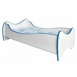 Producent: elior Łóżko z materacem bister - biało niebieskie