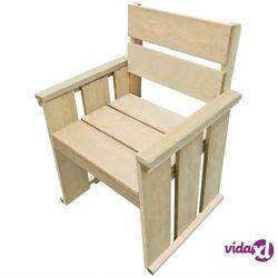 Vidaxl krzesło do ogrodu, impregnowane drewno sosnowe fsc, 61x56x89 cm