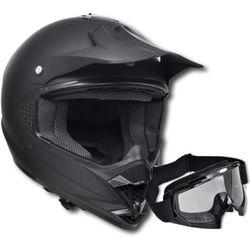 vidaXL Kask do motocross (S) , bez szybki + gogle - sprawdź w VidaXL