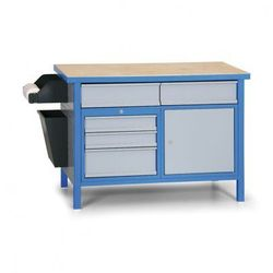 Güde Stół roboczy z zamykaną szafką i szufladami