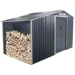 Vente-unique Altana ogrodowa z galwanizowanej stali w kolorze szarym agato 12,95 m2
