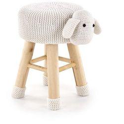 Pufa dolly 2 owieczka, kremowy marki Halmar