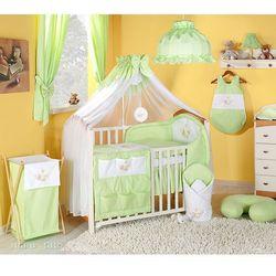 MAMO-TATO pościel 14-el Miś w hamaku w zieleni do łóżeczka 60x120cm - Moskitiera