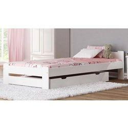 Łóżko drewniane Niwa 90x200 białe z materacem piankowym, lozko-sosnowe-niwa-90x200-biale-z-materacem-piankowym