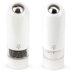- alaska zestaw młynków elektrycznych do soli i pieprzu biały marki Peugeot