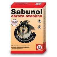 Sabunol Obroża czarna przeciw pchłom i kleszczom dla psa 50cm, PDER014