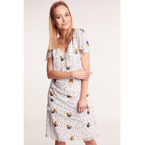 486e49ade Sukienka w kwiaty MORENA, kolor niebieski (POZA) opinie + recenzje ...