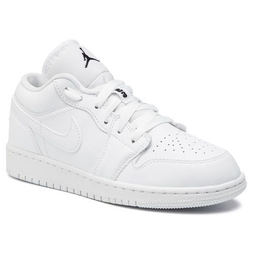 Nike Buty - air jordan 1 low (gs) 553560 101 white/black/white