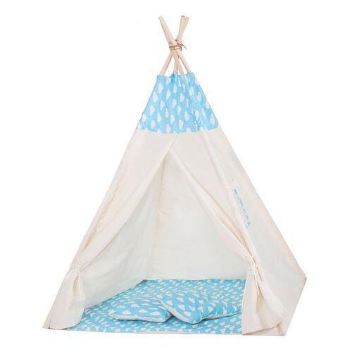 Springos Namiot tipi dla dzieci wigwam błękitny w chmury xxl