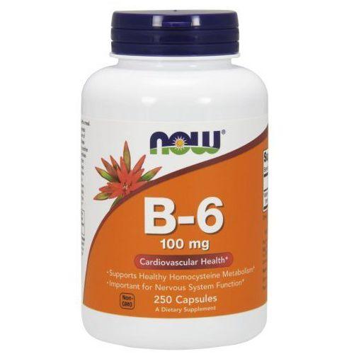 Now Foods, Witamina B-6, 100 mg, 250 kapsułek
