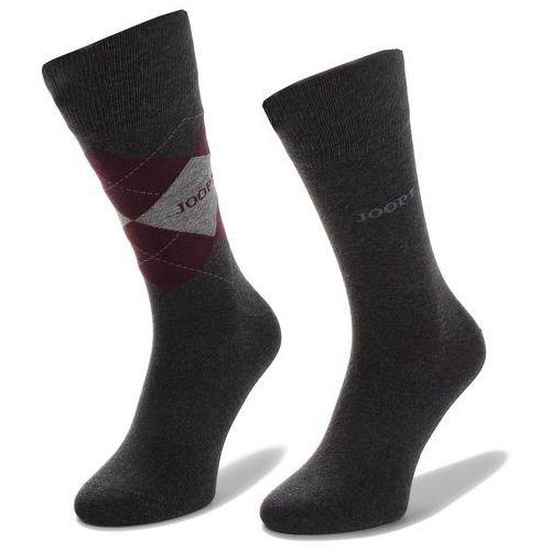 Joop! Zestaw 2 par wysokich skarpet unisex - socks classic argyle 900.011-2 anthra mel. 2100m