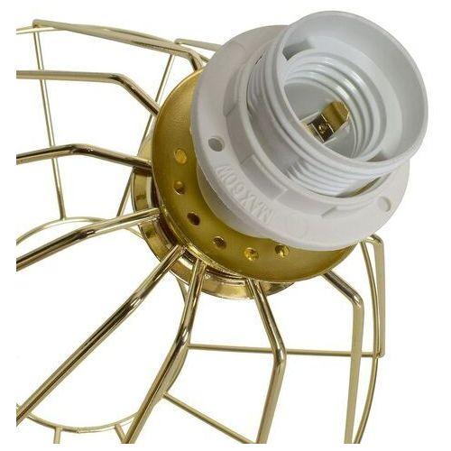 Biurkowa LAMPA stojąca LUPO MLP6268 Milagro druciana LAMPKA stołowa klatka metalowa złota