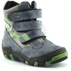 Buty zimowe dla dzieci marki Kornecki 04997 - Zielony ||Granatowy, kolor zielony