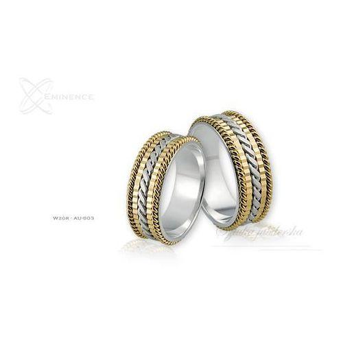 Obrączki ślubne - wzór Au-003