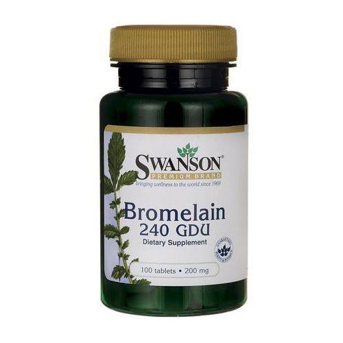 Swanson Bromelaina 240GDU 100 tabl