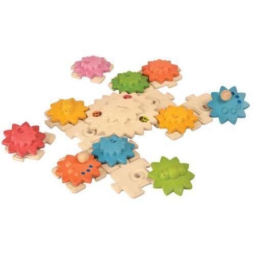 Plan toys Drewniane puzzle koła zębate deluxe, plto-5636 (8854740056368)