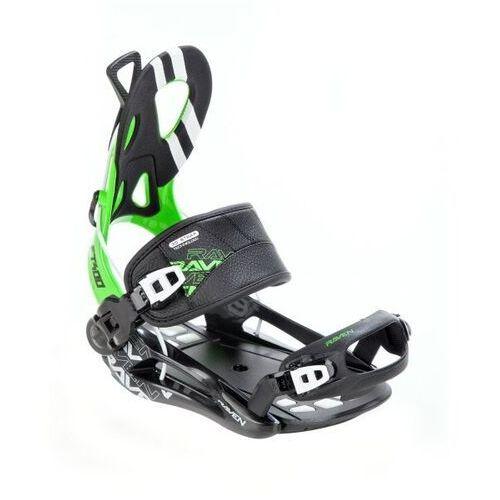 Wiązania snowboardowe Raven FT 400 (black / green) 2020