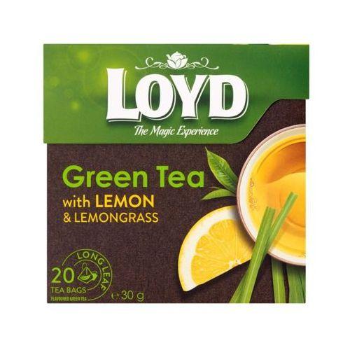 LOYD 20x1,7g Herbata zielona o smaku cytryny piramidki