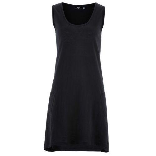 Sukienka z przędzy mieszankowej bonprix czarny, kolor czarny