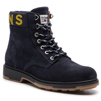 65e4c87040c6f Trapery TOMMY JEANS - Suede Boot EM0EM00235 Black Iris 431, w 6 rozmiarach  eobuwie.pl