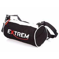 Sportowa torebka turystyczna okrągła walec Extrem czarna