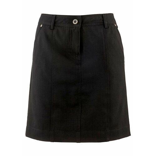 Spódnica ze stretchem z wpuszczanymi kieszeniami bonprix czarny, kolor czarny