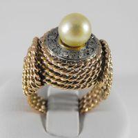 Złoty pierścionek z diamentami P1213