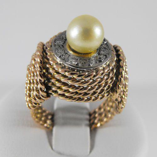 Złoty pierścionek z diamentami P1213, kolor żółty