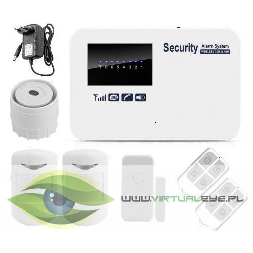 Virtualeye Kompletny bezprzewodowy alarm gsm 3 czujki +syrena vs-gsm50c