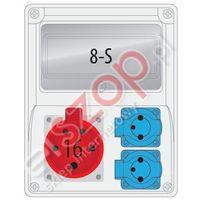 Rozdz.R-BOX 240 8S 1x16/5,2x230V puste okno ROZDZ.R-BOX 240/ 8S 1X16A/5P 2x230V (5901350827512)
