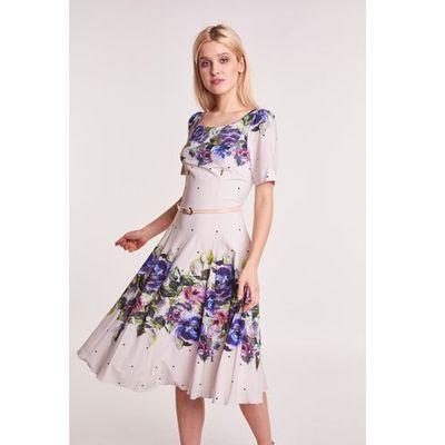 cfc4cf0abd suknie sukienki rozkloszowana sukienka w kwiaty czarny kolekcja ...